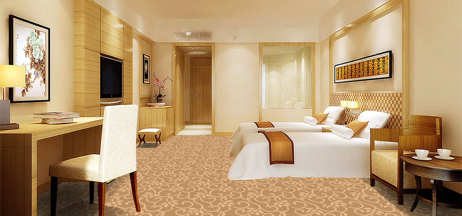 主要承接酒店会所工程地毯,办公商务方块地毯,别墅大宅家具手工地毯