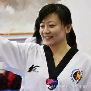 美女妈妈也爱跆拳道