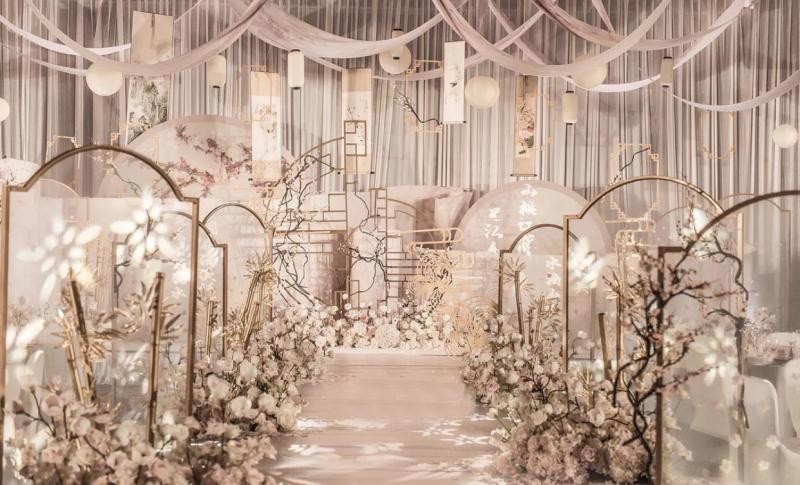 典雅莊重氣質的香檳色系新中式婚禮