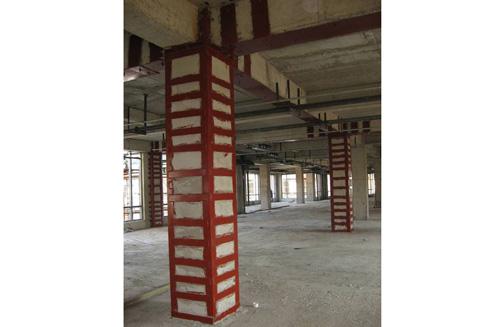 創新科技城柱、梁鋼板粘鋼加固