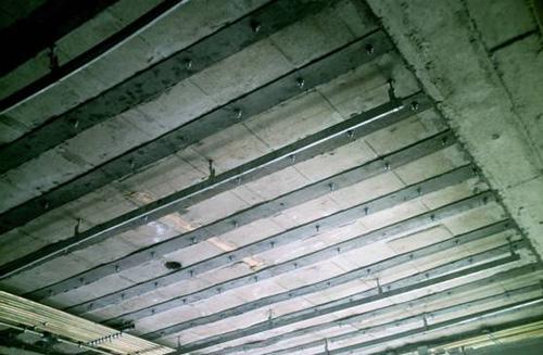 檔案室梁樓板粘鋼加固
