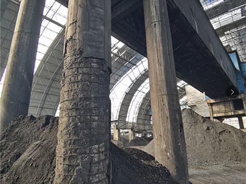 2020年7月柳林金家莊煤礦煤場棧橋支架砼結構加固工程
