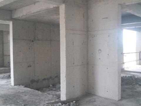 2020年7月長治市某小區22號樓混凝土剪力墻、柱置換加固工程
