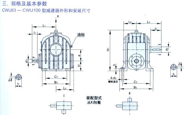 CW(USO)圓弧圓柱蝸桿減速機