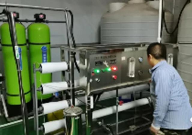 張慶精釀啤酒廠2噸反滲透設備