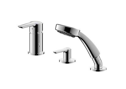 三孔浴缸龙头
