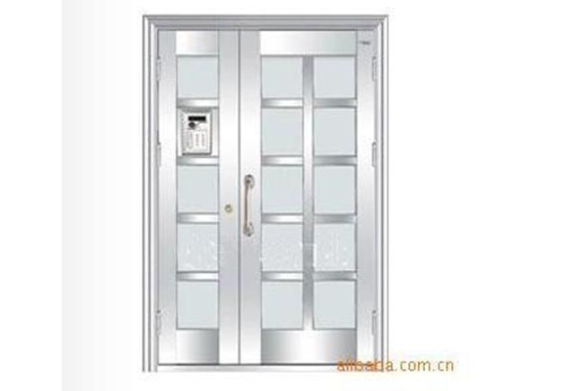 白钢楼宇门