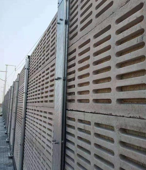运城蒙华铁路水泥隔音屏障