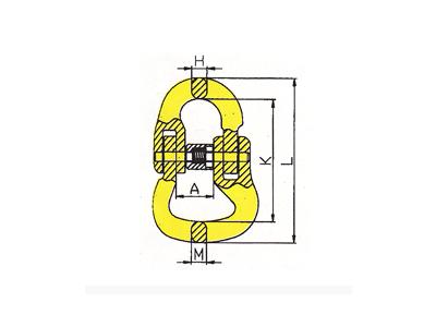 DL804-G80异型链接双环扣