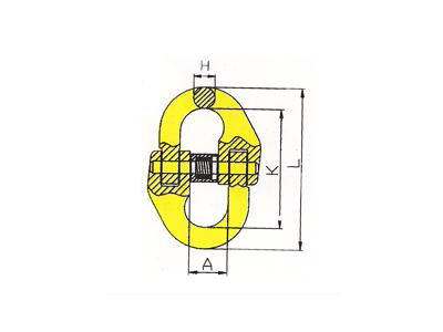 DL802-G80欧式链接双环扣
