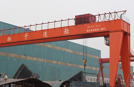大噸位造船龍門起重機