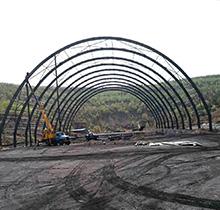 60米跨度鋼結構煤棚1
