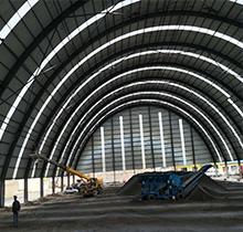 鋼結構煤棚完工