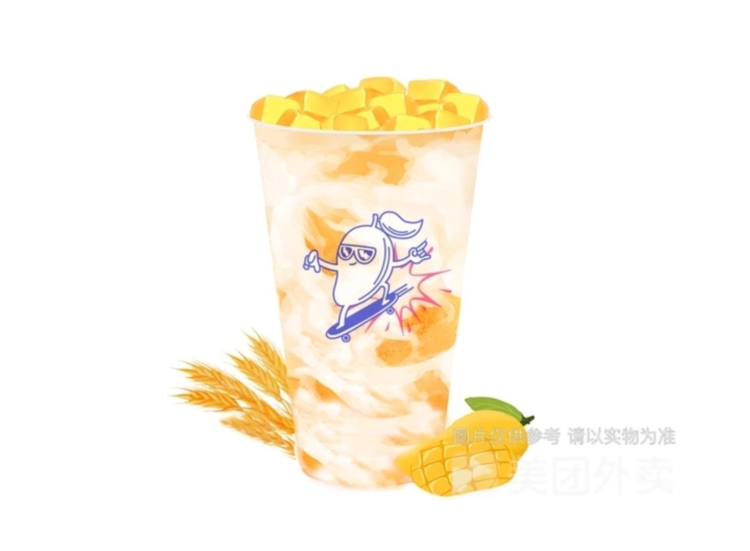 芒果麻薯燕麦乳