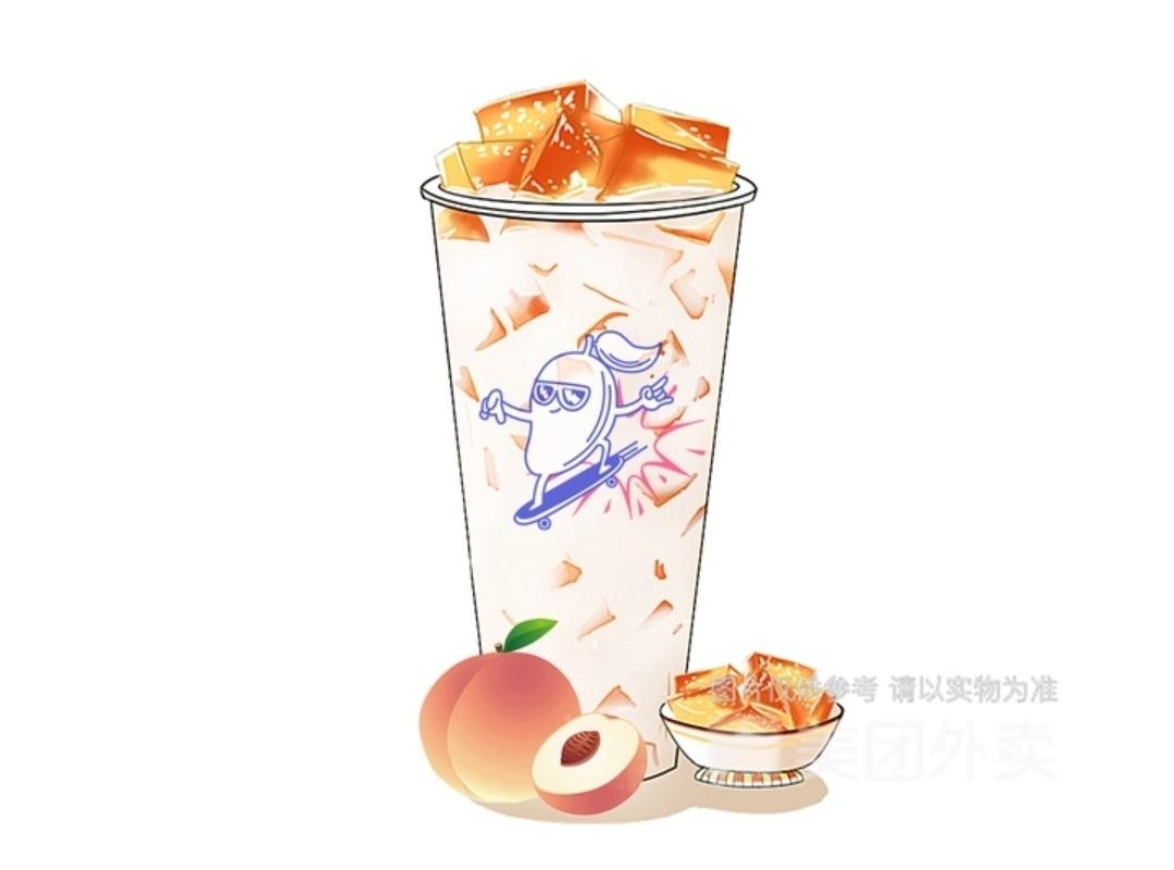 蜜桃乌龙茶冻