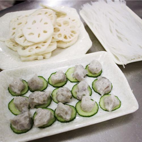 大福鮮蝦滑、藕片、水晶粉